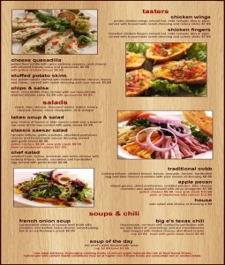 The Lakes Lounge - Page 1 of Menu