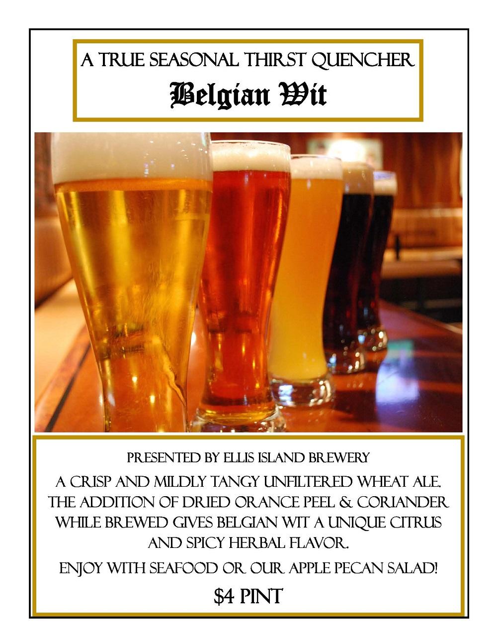 Seasonal Belgian Wit